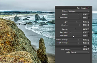 tone-mapping HDR